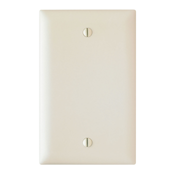 Pass & Seymour TP13-LA 1-Gang Blank Light Almond Nylon Standard Unbreakable Wallplate