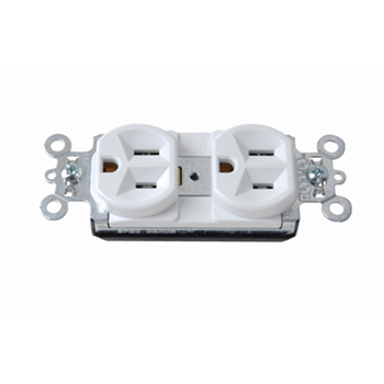 PlugTail® Spec Grade Receptacles, 15A, 125V, White PT5262W