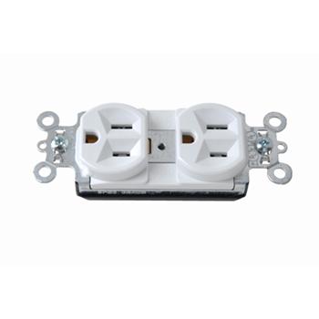 Mayer-PlugTail® Spec Grade Receptacles, 15A, 125V, White PT5262W-1