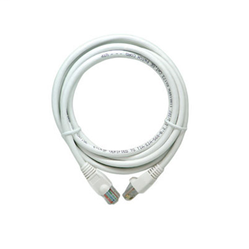 On-Q AC3525-WH-V1 4-Pair 25 Foot 24 AWG RJ45 Category 5E White Polycarbonate Patch Cord