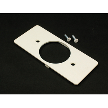 Wiremold 5507T1 Non-Metallic Single Receptacle Ivory Faceplate