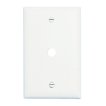 Pass & Seymour TP11-W 1-Gang 1-Telephone/Cable Outlet White Nylon Standard Unbreakable Communication Wallplate