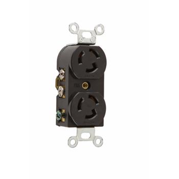 Pass & Seymour 4700 15 Amp 125 VAC 2-Pole 3-Wire NEMA L5-15R Nylon Locking Duplex Receptacle