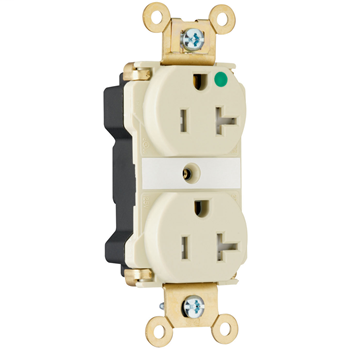 Pass & Seymour PTTR63-HRED 20 Amp 125 VAC 2-Pole 3-Wire NEMA 5-20R Red Nylon Tamper-Resistant Duplex Receptacle