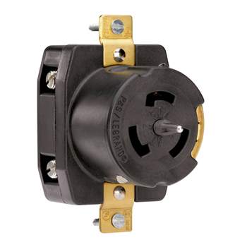 Pass & Seymour CS8369 50 Amp 250 VAC 3-Phase 3-Pole 4-Wire Non-NEMA Nylon Locking Receptacle