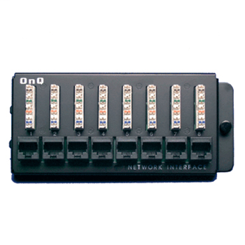 On-Q 363486-01 6.5 x 1.5 x 3 Inch 8-Port Category 5E RJ45 Black 18 Gauge CRS Network Interface Module