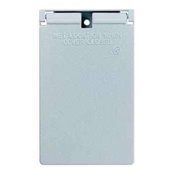 Cast Weatherproof Cover Decorator or GFCI Vertical, White CA26WV