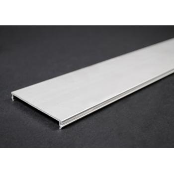 Wiremold AL3300C-5 2-3/4 Inch Satin Anodized Aluminum 1-Channel Raceway Cover