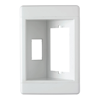 Single-Gang Recessed TV Box (Frame Only), White TV1WW
