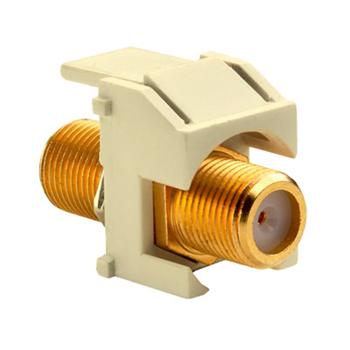 On-Q WP3480-LA Light Almond Plastic Recessed Gold F-Video Insert