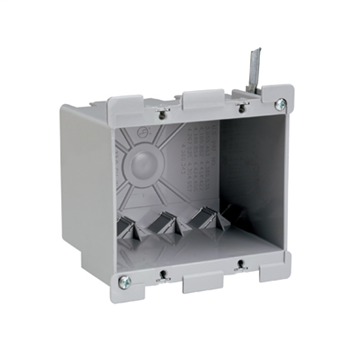 "Pass & Seymour S2-32-W 3-3/4 x 4-1/16 x 3-1/32"" 32"" 2-Gang Thermoplastic Switch and Outlet Box"