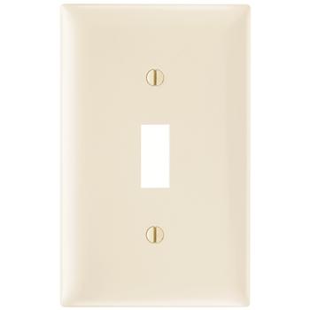 Pass & Seymour TP1-LA 1-Gang 1-Toggle Switch Light Almond Nylon Standard Unbreakable Wallplate