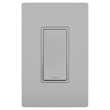 Pass & Seymour TM873-GRY 15 Amp 120/277 VAC 3-Way Gray Thermoplastic Screw Mounting Grounding Rocker Decorator Switch