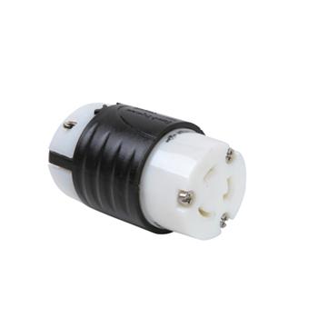 20 Amp NEMA Connector L620 - Black Back, White Front Body L620C