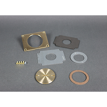 """Wiremold 829CK-1 2-5/8 x 1"""" Brass Floor Box Communication Cover Plate"""