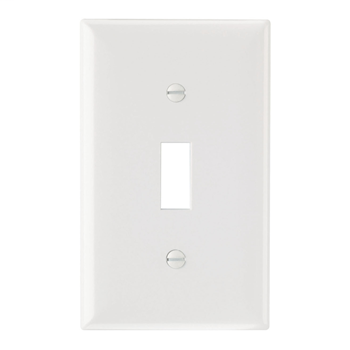Pass & Seymour SP1-W 1-Gang 1-Toggle White Smooth Thermoset Plastic Standard Wallplate