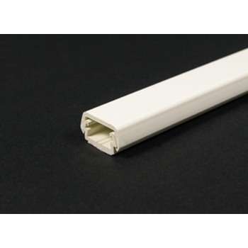 Wiremold 400BAC 7/8 x 7/16 Inch Ivory Non-Metallic 1-Channel 2-Piece Raceway Base and Cover