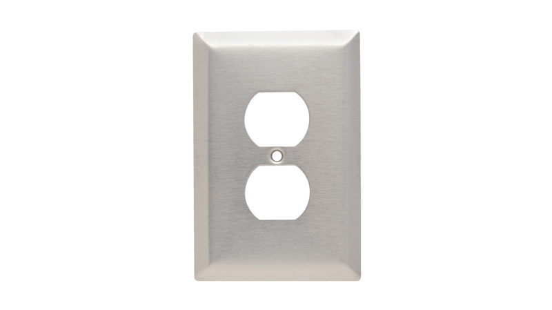 Mayer-Duplex Receptacle Openings, One Gang, 302/304 Stainless Steel-1