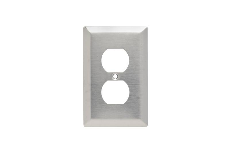 Duplex Receptacle Openings, One Gang, 302/304 Stainless Steel