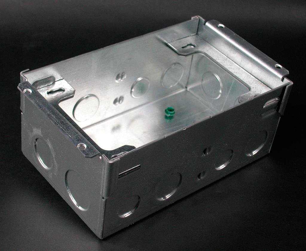 Wiremold 880W2 1/2 x 3/4 x 1 Inch 58/59 In 2-Gang Steel Floor Box