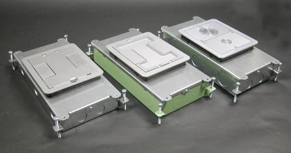 Wiremold RFB2 1-Gang 50.2 In Steel Rectangular Recessed Floor Box