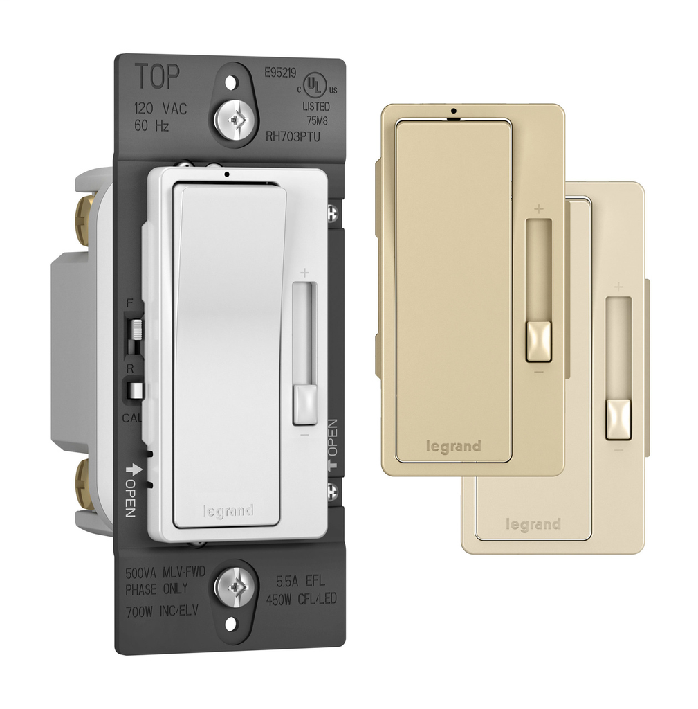 Wattstopper Radiant RH703-PTUTC 120 VAC 60 Hz Tru-Universal 1-Pole 3-Way Ivory/White/Light Almond Dimmer
