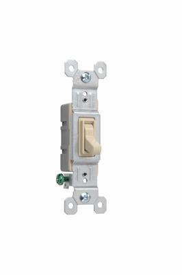 Pass & Seymour 660-IG 15 Amp 120 VAC 1-Pole Ivory Thermoplastic Toggle Switch