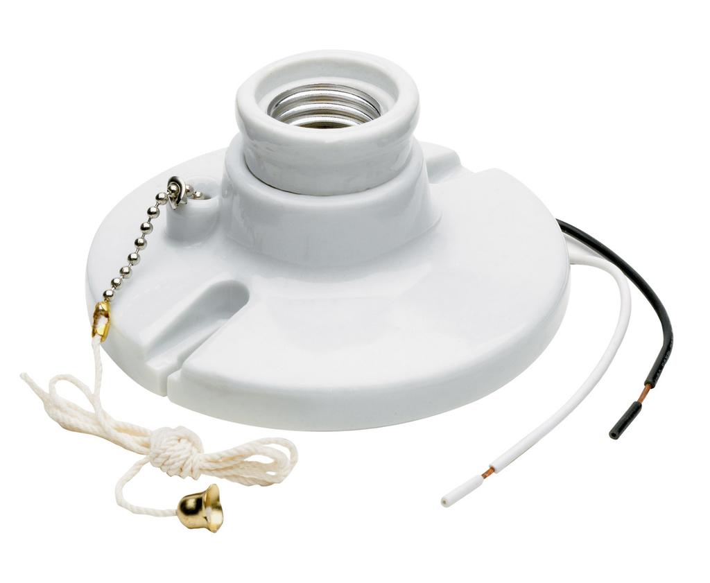 Pass & Seymour 29816-C2 250 Volt 250 W White Porcelain Medium Base Incandescent Lampholder