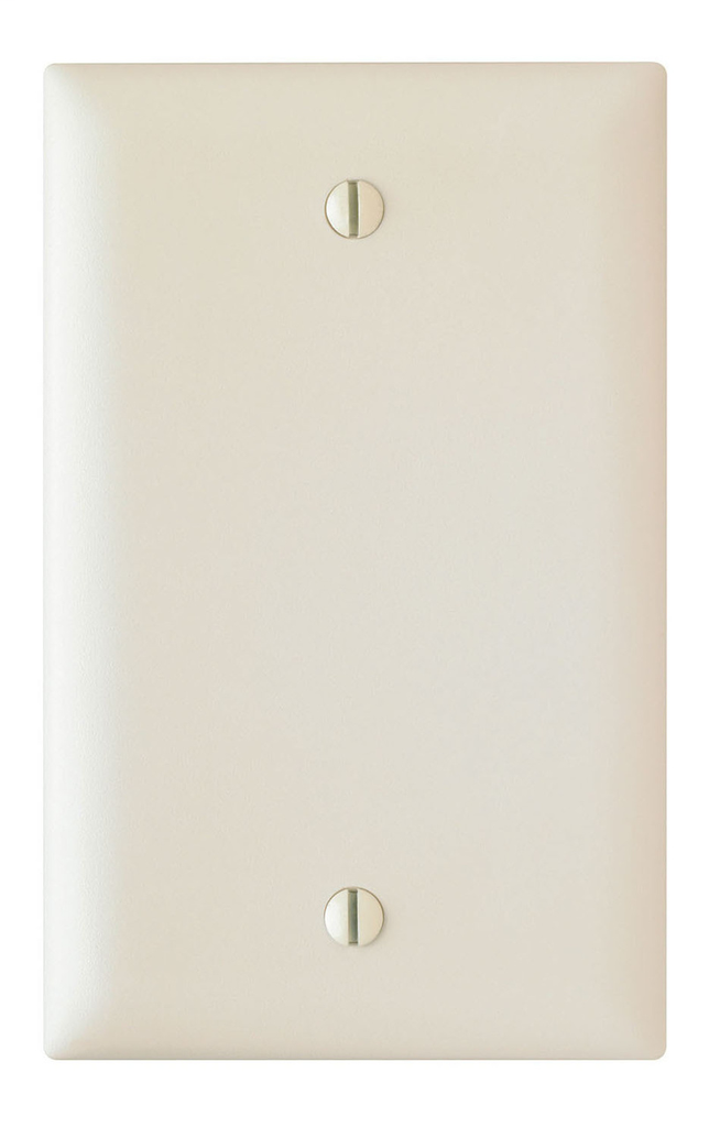 Pass & Seymour TP13-LA 1-Gang Blank Light Almond Nylon Standard Unbreakable Wallplate