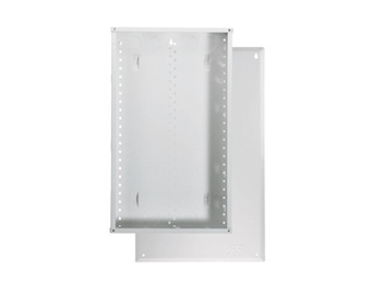 On-Q EN2800 14.3 x 3.7 x 28.1 Inch Powder Coated Glossy White Screw-On Cover Enclosure