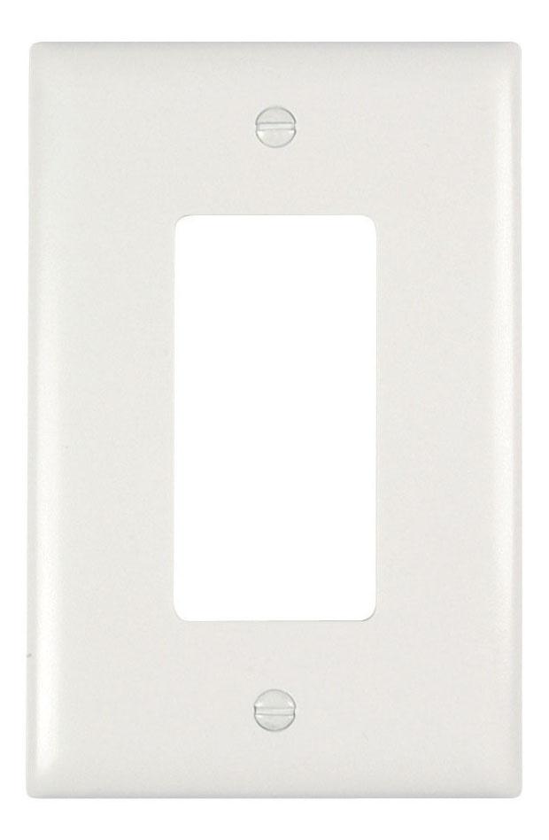 Pass & Seymour TPJ26-W 1-Gang 1-Decorator White Nylon Jumbo Unbreakable Wallplate