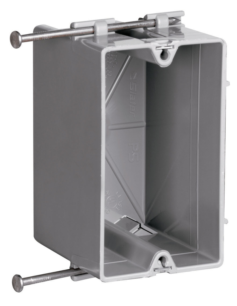 Pass & Seymour S1-18-R 3-3/4 x 2-1/4 x 2-23/32 Inch 18 In 1-Gang Thermoplastic Switch and Outlet Box