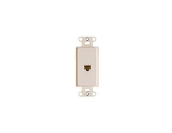 On-Q WP3210-WH 1-Port White RJ45 Audio/Video Pre-Configured Strap