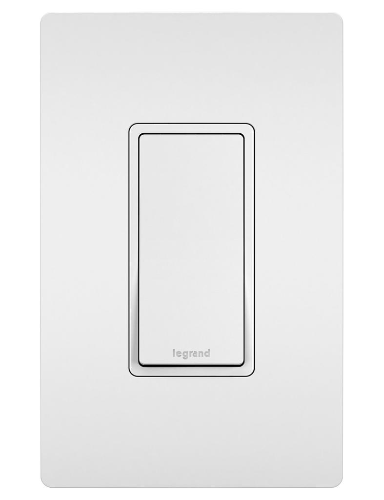 Pass & Seymour TM870-W 15 Amp 120/277 VAC 1-Pole White Thermoplastic Rocker Decorator Switch
