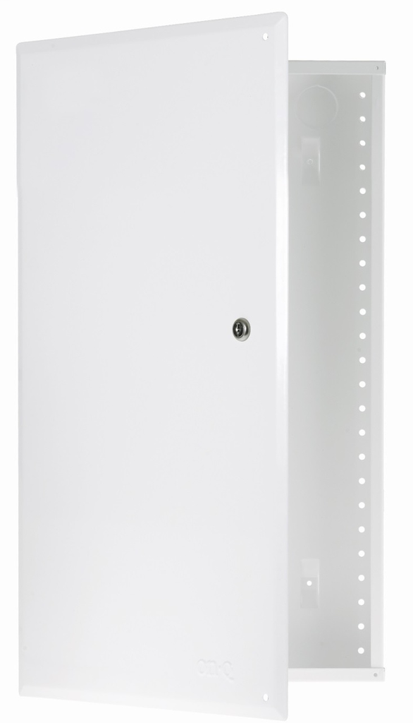 On-Q EN2860 14.3 x 28 Inch Powder Coated Glossy White Hinged Cover Enclosure