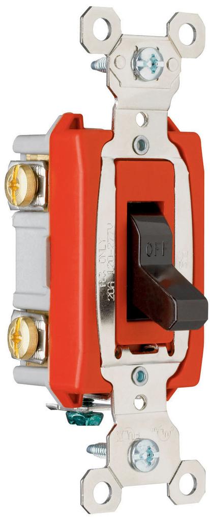 Pass & Seymour PS20AC2-HP 20 Amp 120/277 VAC 1-Phase 2-Pole Toggle Switch