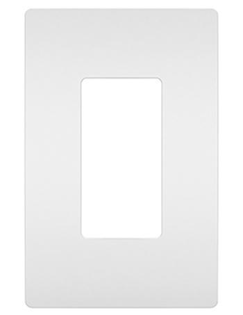 Wattstopper RWP26W 3.15 x 4.94 Inch White Polycarbonate Screwless 1-Gang Wallplate