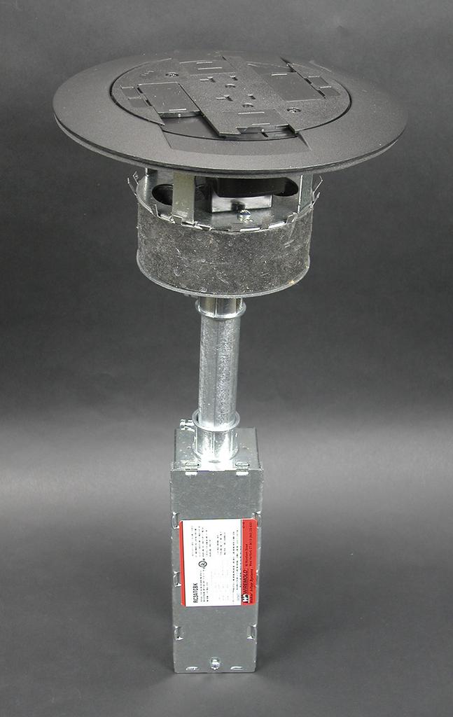 Wiremold RC3ATCBK 7-1/2 x 16 Inch 20 Amp Black Poke-Through Assembly