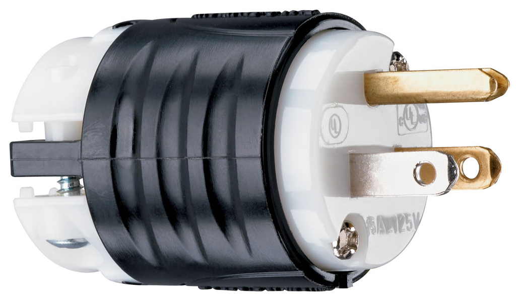 Mayer-15A, 125V Extra-Hard Use Spec-Grade Plug, White Face-1