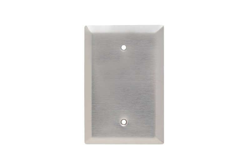 Pass & Seymour SSO13 1-Gang Blank Smooth Brushed Stainless Steel Jumbo Wallplate