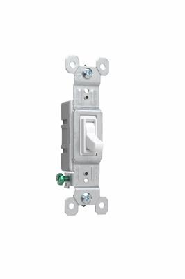 Pass & Seymour 660-WG 15 Amp 120 VAC 1-Pole White Thermoplastic Toggle Switch