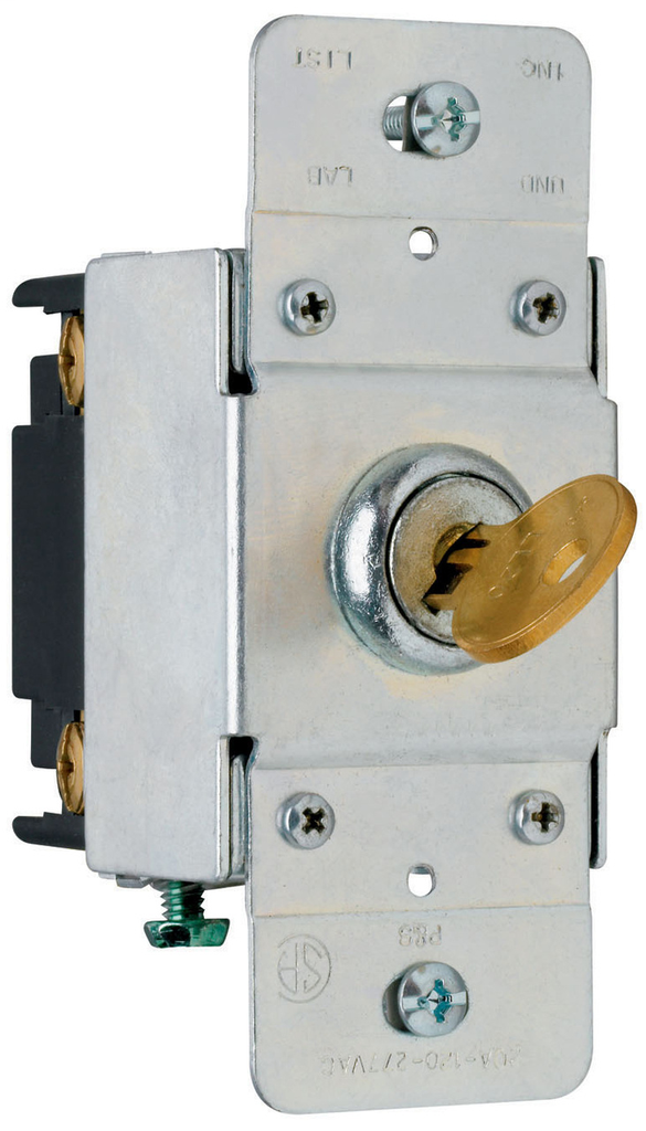 Pass & Seymour PS20AC4-KL 20 Amp 120/277 VAC 4-Way Back and Side Wire Screw Mount Lock Switch