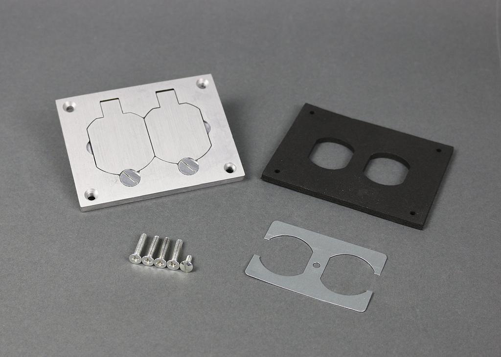 Mayer-Omnibox® Rectangular Aluminum Duplex Cover Plate-1