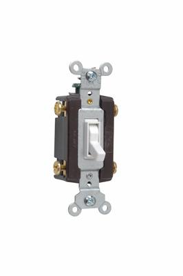 Pass & Seymour 664-WG 15 Amp 120 VAC 4-Way White Thermoplastic Toggle Switch