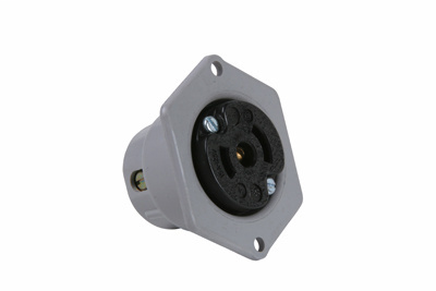 Pass & Seymour ML214 Black Face Gray Flange Midget Flanged Outlet