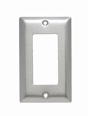 Pass & Seymour SSO26 1-Gang 1-Decorator Smooth Brushed Stainless Steel Jumbo Wallplate