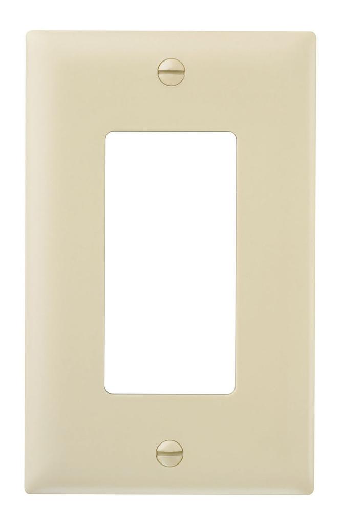 Wattstopper TP26-I 1-Gang 1-Decorator Ivory Nylon Standard Unbreakable Wallplate