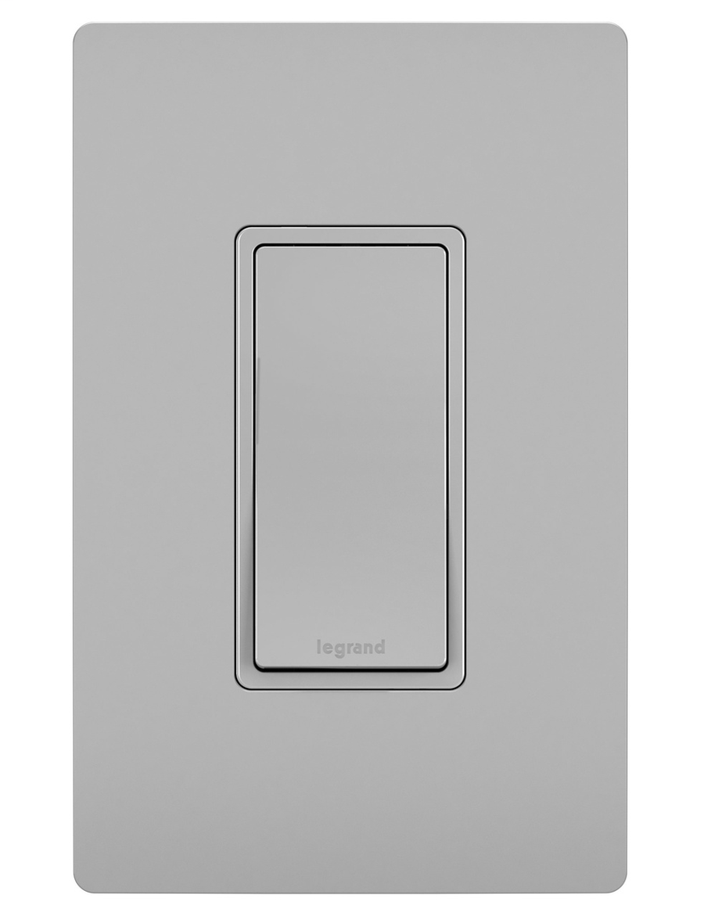 Pass & Seymour TM870-GRY 15 Amp 120/277 VAC 1-Pole Gray Thermoplastic Rocker Decorator Switch
