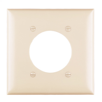 Pass & Seymour TP703-I 2-Gang 1-Power Outlet Receptacle Ivory Nylon Standard Unbreakable Wallplate