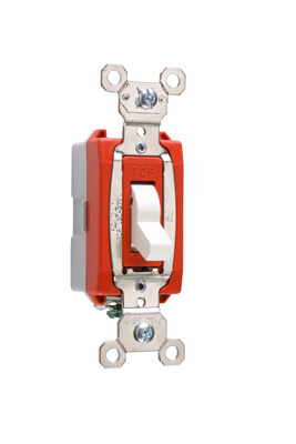 Pass & Seymour PS20AC1-WSL 20 Amp 120/277 VAC 1-Pole White Glass Reinforced Nylon Screw Mounting Lighted Toggle Switch